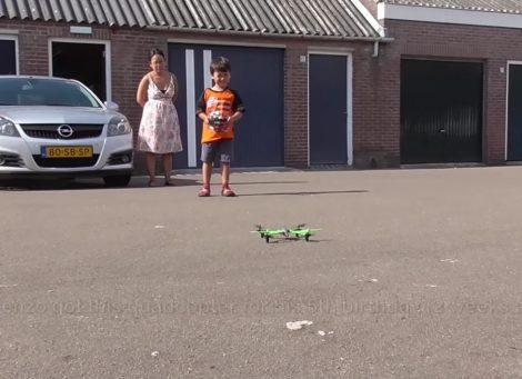 Lorenzo flying a drone